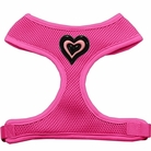 Black & Pink Heart Chipper Soft Mesh Dog Harness
