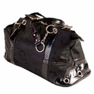 Black Rococo Dog Carrier