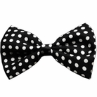 Black & White Polka Dot Dog Bow Tie