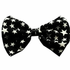 Black & White Star Dog Bow Tie