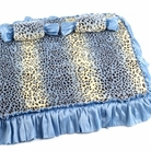 Blue Cheetah Dog Bed