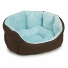 Blue Dimple Plush Dog Bed