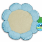 Blue Plush Flower Dog Bed
