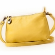 Bright Yellow Cross Body Leather Purse