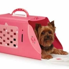 Brite Pink Pet Crate Carrier