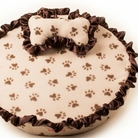 Brown Paw Dog Bed