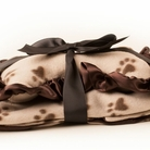 Brown Paw Dog Blanket & Pillow