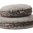 Brown & Pink Stripes Round Dog Bed