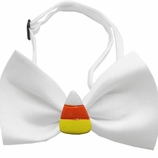 Candy Corn Chipper Halloween Dog Bow Tie