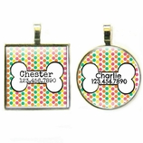 Candy Dots Pet ID Tag