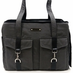 Charcoal Buckle Tote Dog Carrier