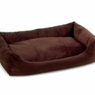 Chocolate Brown Bumper Dog Bed