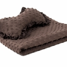 Chocolate Brown Dog Blanket & Pillow