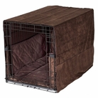Chocolate Brown Plush Luxury Cratewear Dog Bedding Set