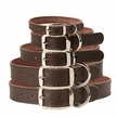 Chocolate Leather Dog Collars & Leashes
