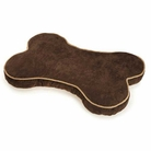 Chocolate Suede Bone Dog Bed