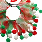 Christmas Fuzzy Wuzzy Party Dog Collar