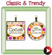 - square & round id tags