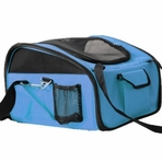Collapsible Pet Car Seat Carrier / Convertible Dog Carrier - Blue