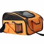 Collapsible Pet Car Seat Carrier / Convertible Dog Carrier - Orange