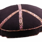 Corduory Pink Flower Peace Sign Dog Bed