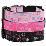 Crazy Hearts Cat & Dog Collars & Leashes