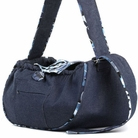 Denim w/Blue Flower Trim Sling Dog Carrier