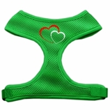 Double Heart Soft Mesh Dog Harness