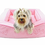 Dream of Diamonds Pink Dog Bed
