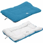 Eco-Paw Reversible Eco-Friendly Pet Bed - Blue/White