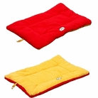 Eco-Paw Reversible Eco-Friendly Pet Bed - Orange/Red