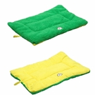 Eco-Paw Reversible Eco-Friendly Pet Bed - Yellow/Green