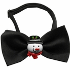 Frosty Chipper Holiday Dog Bow Tie
