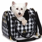Gingham Dog Carrier by M. Isaac Mizrahi