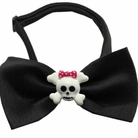 Girly Skull Chipper Halloween Dog Bow Tie