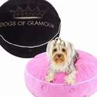 Glam Crown Round Dog Bed