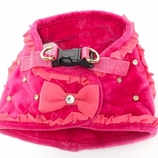 Glam Quilted Pink Dog Harness