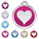 Glitter Heart * Dog ID Tag