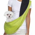 Green / Black Reversible Sling Pet Carrier