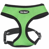 Green Breathe EZ Mesh Dog Harness by Bark Appeal