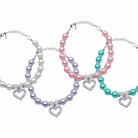 Heart & Pearl Pet Necklaces