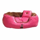Hot Pink Diamond Pooch Dog Bed