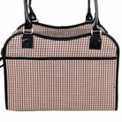 Houndstooth Handbag Dog Carrier