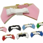 Johnny Bow Tie Patent Dog Collars