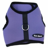 Lavender Mesh Wrap N Go Velcro Harness by Bark Appeal