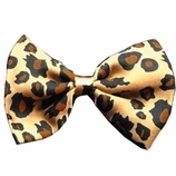 Leopard Dog Bow Tie