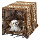 Leopard Plush Luxury Cratewear Dog Bedding Set