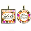 Modern Orange Dots Pet ID Tag