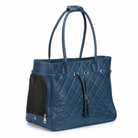 Navy Quilted Dog Carrier