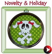 - novelty & holiday id tags